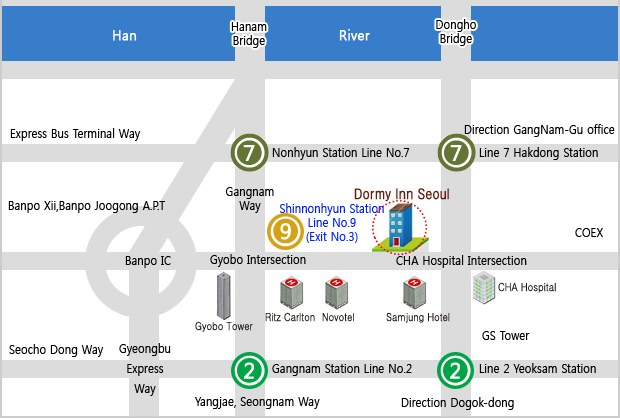 Dormy Inn Seoul Map