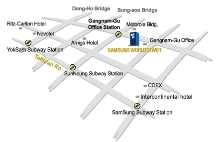 Samsung World Tower Map